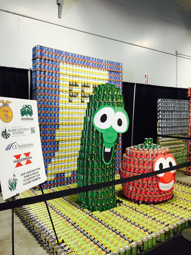 VeggieTales made out of canned vegetables!