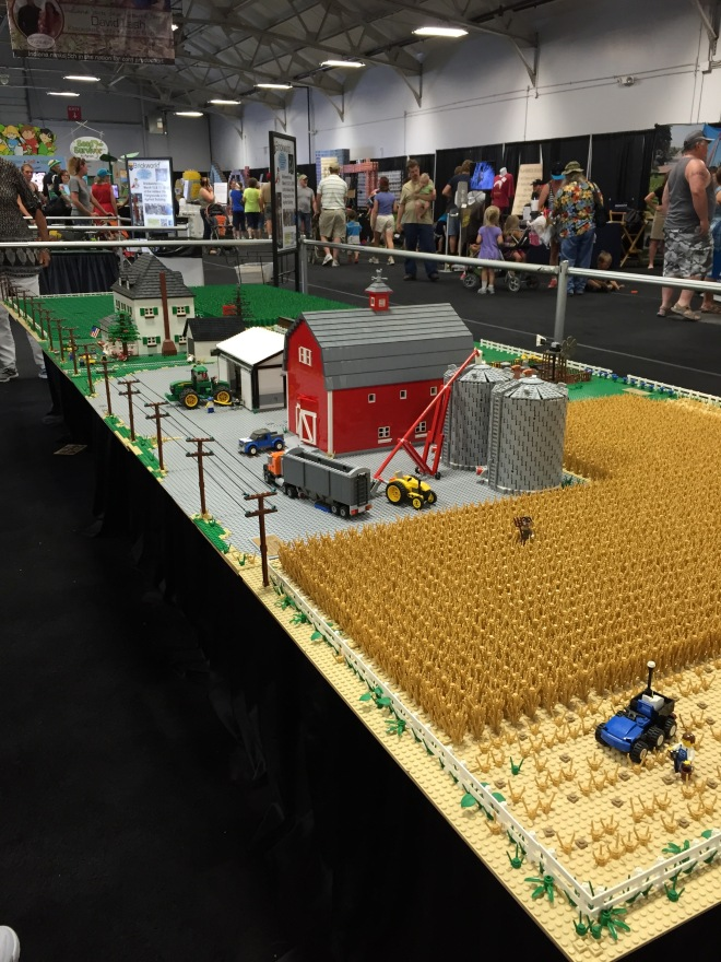 This farm was made completely out of Legos.