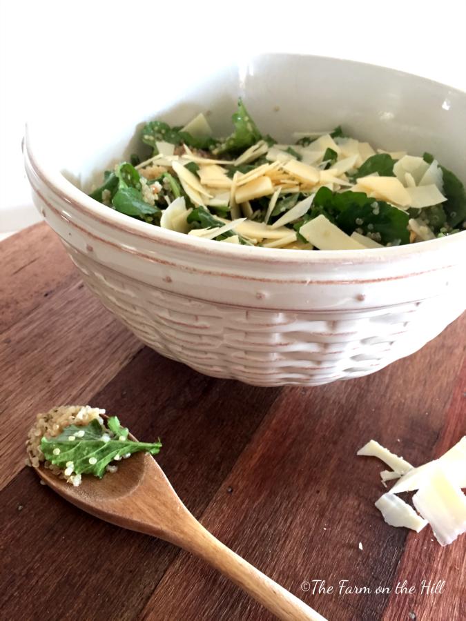 Arugula & Parmesan Quinoa Salad front