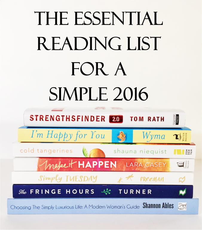 Essential Reading List for Simple 2016