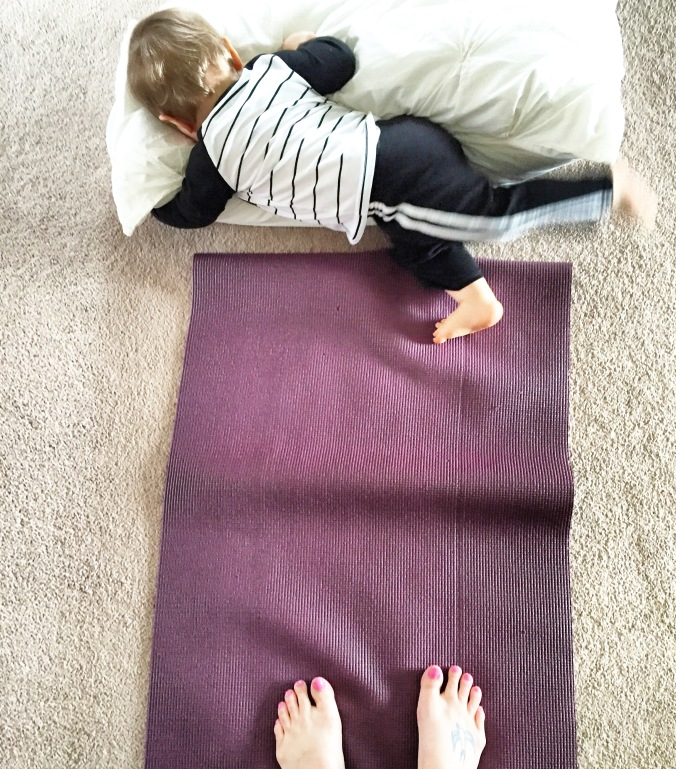 Trying to Practice Flying Frog Position Yoga