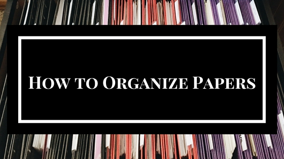 Full & Simple How to Organize Papers
